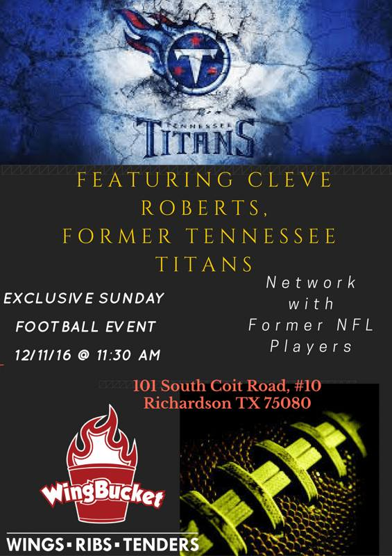 Tennessee Titans Cleave Roberts Event